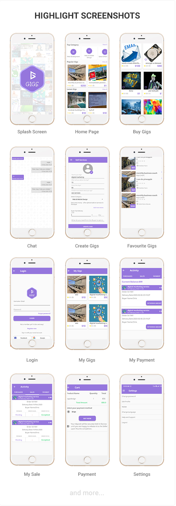 Gigs (Services Marketplace App) - Fiverr & Freelance Clone - Native iOS Application Download